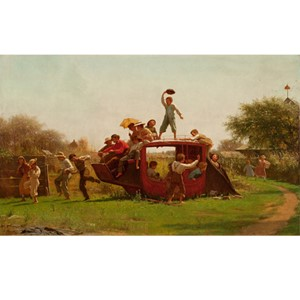 <i>The Old Stagecoach</i> by Eastman Johnson | Milwaukee Art Museum Store