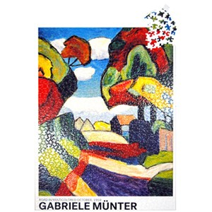 1000pc Puzzle - Road in Multicolored October | Milwaukee Art Museum Store