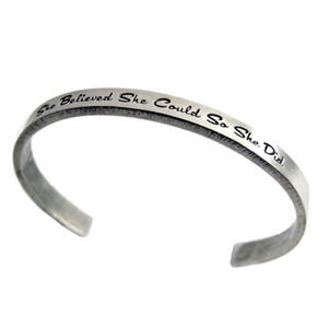 Quotable Cuff - She Believed She Could | Milwaukee Art Museum Store