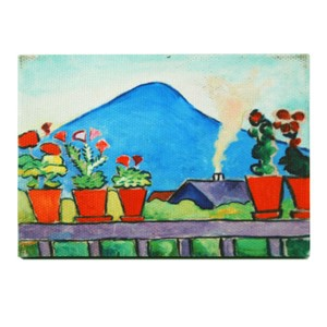 Geraniums Before Blue Mountain Magnet | Milwaukee Art Museum Store