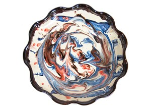 Marbled Serving Bowl | Milwaukee Art Museum Store