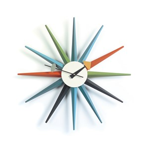 Sunburst Multi-Colored Wall Clock | Milwaukee Art Museum
