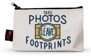 Take Photos, Leave Footprints Cotton Pouch | Milwaukee Art Museum