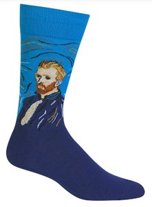Van Gogh Self Portrait Men's Socks
