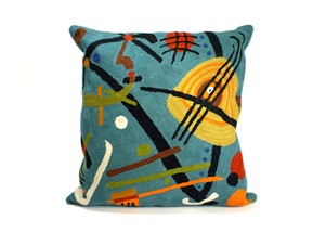 Kandinsky Jazz Blue Pillow | Milwaukee Art Museum