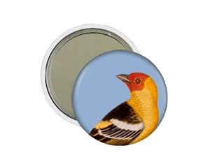 Art In Bloom Bird Pocket Mirror | Milwaukee Art Museum Store