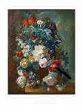 <i>Flowers in Terra-cotta Vase</i> by Jan van Os Postcard