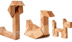 Snake Block Puzzle - Small Natural | Milwaukee Art Museum Store