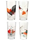 Charley Harper Small Red Bird Drinking Glasses