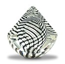 Black and White Pyrimid Paperweight by Harrie Art Glass