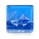 Fused Glass Coaster - Side View