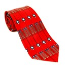 Silk Tie - Frank Lloyd Wright Tree of Life - Red