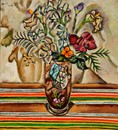 Still Life with Flowers, 1918, by Joan Miró