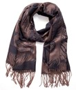 Paisley and Feather Silk Blend Scarf
