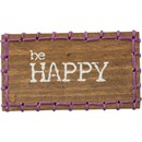 Be Happy Stitched Block Magnet