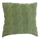 "Green Knit 18"" Pillow"