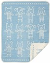 100% Organic Cotton Blanket - Hug Blue