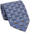 French Blue Transformer Silk Tie