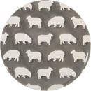 "8.5"" Stoneware Sheep Plate"