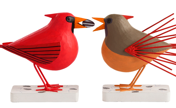 Charley Harper Bird Sculptures