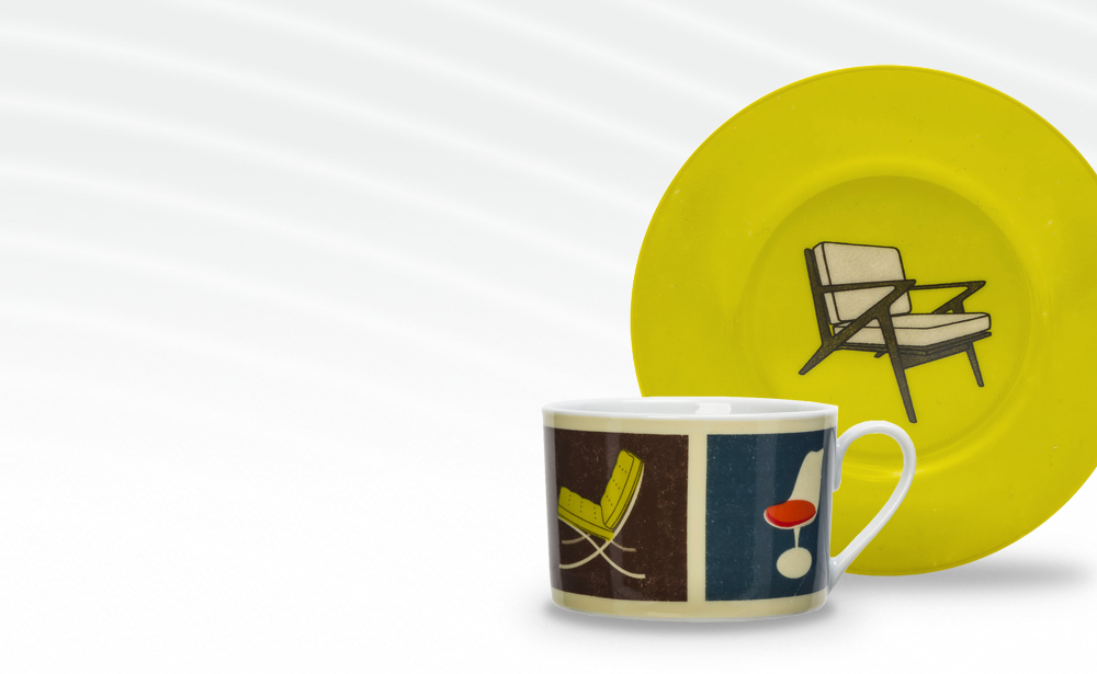 Modern Chair Cup and Saucer